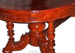 Rosewood Table Handmade with eight chairs